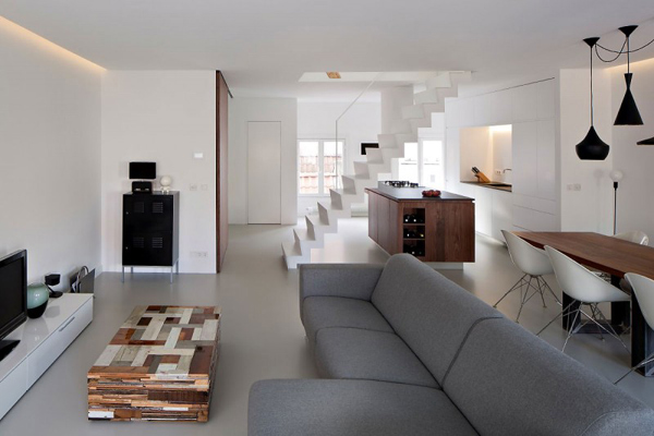 Image of: Apartment Interior Decoration with Bright and Modern Concept view family-room