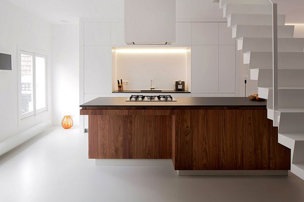 Image of: Apartment Interior Decoration with Bright and Modern Concept view kitchen