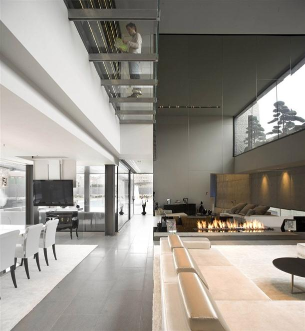 Image of: Architecture House Design called Open Box House in Madrid view Interior-Design