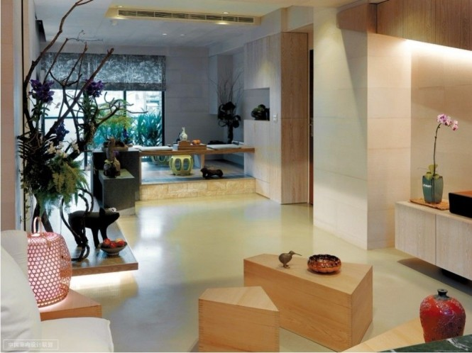 Image of: Asian Apartment Interior Idea with Minimalist Decoration view interior-design