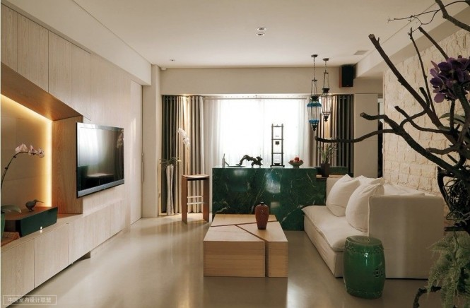 Image of: Asian Apartment Interior Idea with Minimalist Decoration view living-room