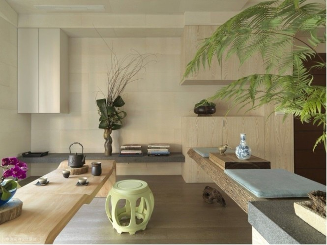 Image of: Asian Apartment Interior Idea with Minimalist Decoration view tea room