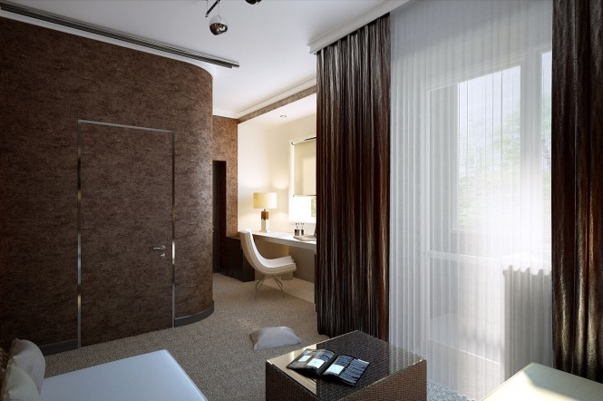 Image of: Decorated Room Ideas view Brown-white-decor-scheme