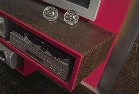 Image of: Entertainment Wall Unit with Modern TV Center view player