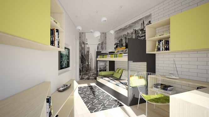 Image of: Kids Bedroom Decoration Ideas with Top 8 Designs view Gray-green
