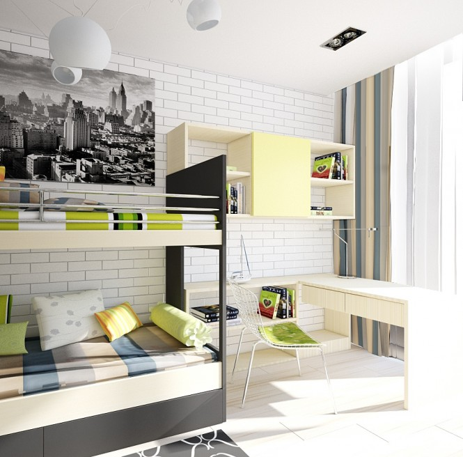Image of: Kids Bedroom Decoration Ideas with Top 8 Designs view Green-white 2