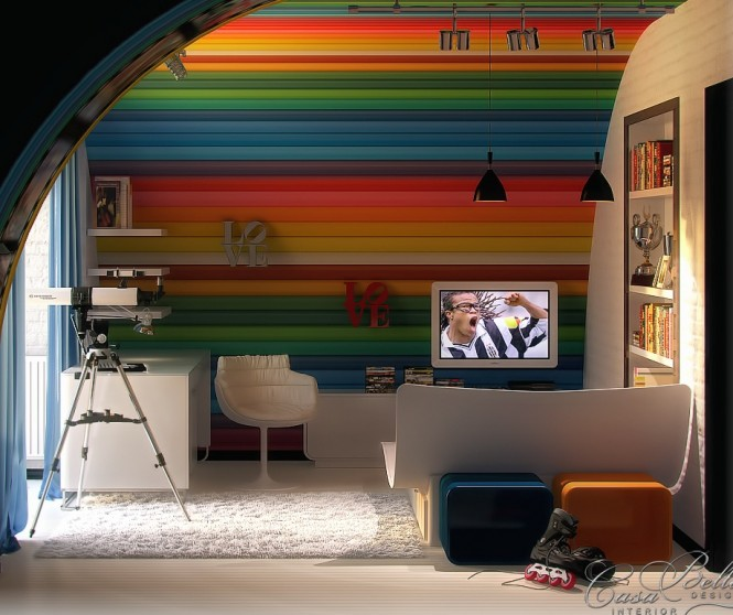 Image of: Kids Bedroom Decoration Ideas with Top 8 Designs view Rainbow 2