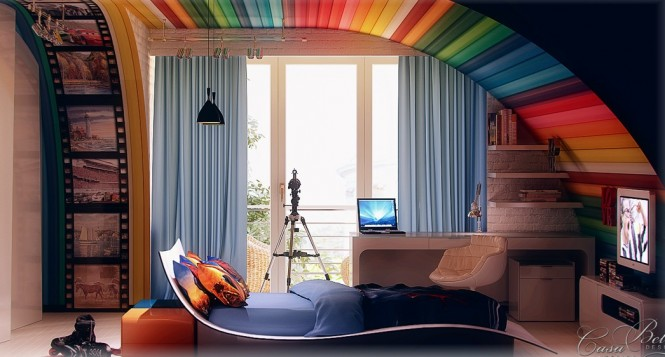Image of: Kids Bedroom Decoration Ideas with Top 8 Designs view Rainbow-themed