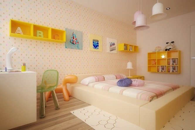 Image of: Kids Bedroom Decoration Ideas with Top 8 Designs view Yellow 2