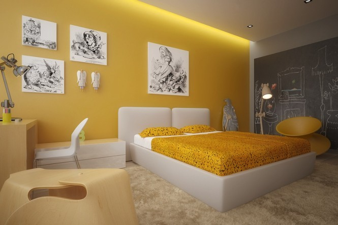Image of: Kids Bedroom Decoration Ideas with Top 8 Designs view Yellow-white 2