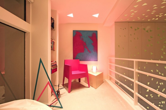 Image of: Modern Townhouse Design with Manila Based Archietctural view Colorful-Study-Space