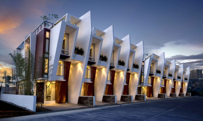 Image of: Modern Townhouse Design with Manila Based Archietctural view