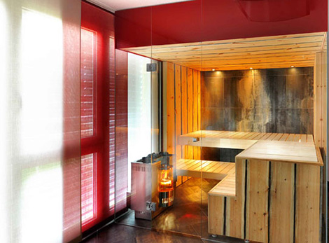 Image of: Sauna for Home with Wooden Material by Kung Sauna tipe 2