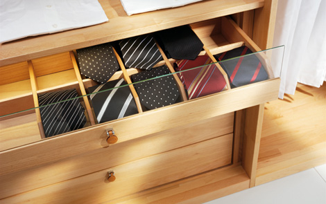 Image of: Wooden Wardrobe Custom Closet Shelves System by Team 7 view 2