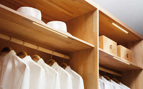 Image of: Wooden Wardrobe Custom Closet Shelves System by Team 7 view 3