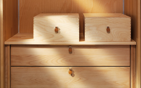 Image of: Wooden Wardrobe Custom Closet Shelves System by Team 7 view 4