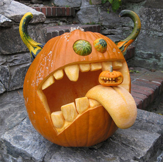 Image of: Pumpkin Faces for Halloween Decorations