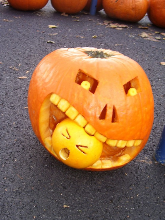 Image of: Pumpkin Faces for Halloween