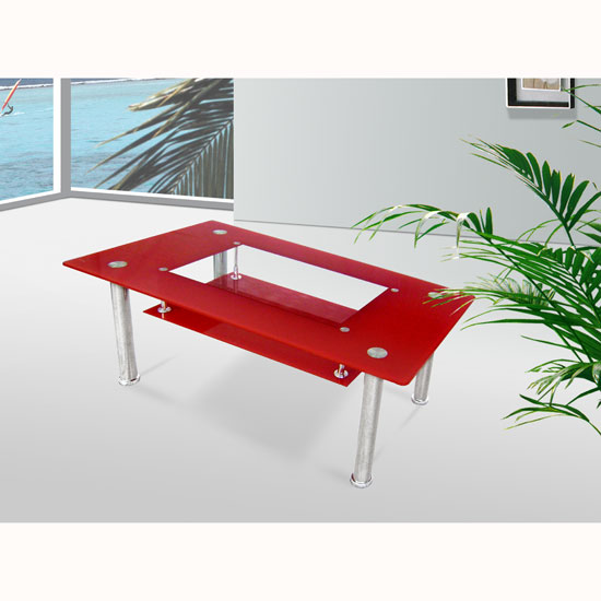 Image of: christie coffee table red