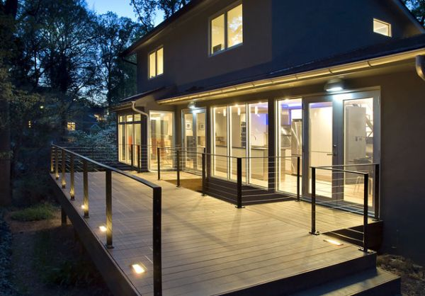 Image of: deck lighting steel