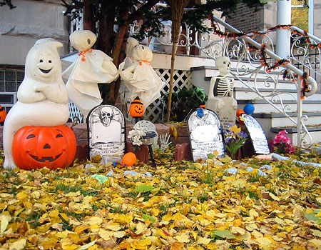 Image of: halloween outdoor ideas