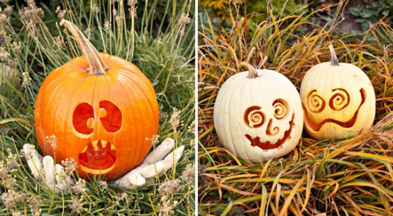 Image of: halloween pumpkin faces