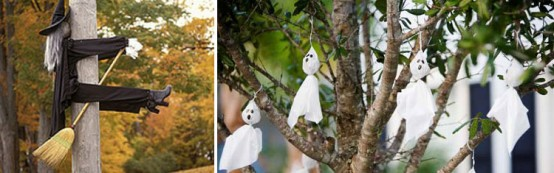 Image of: homemade outdoor halloween decorations