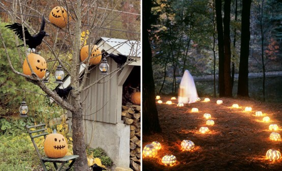 Image of: outdoor halloween ideas