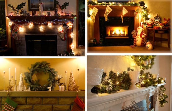 Image of: Christmas Displays Mantel Decorations 1