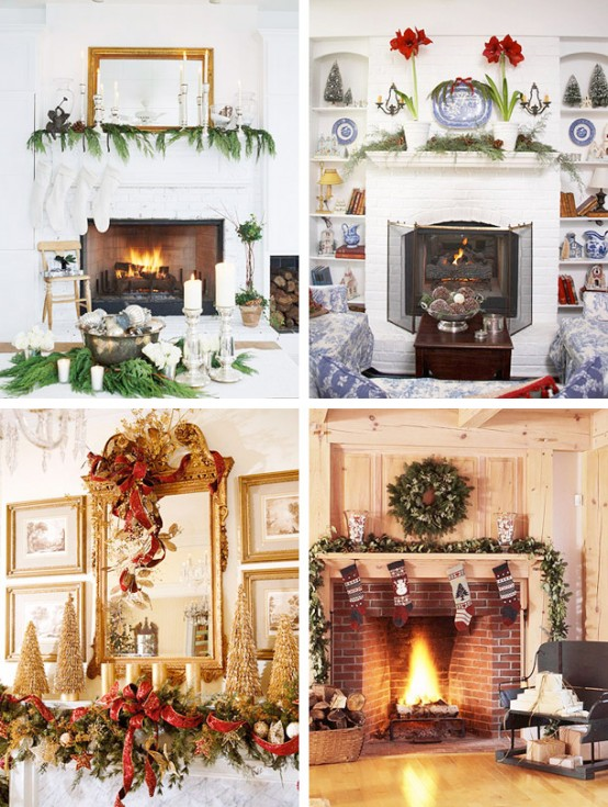 Image of: Christmas Displays Mantel Decorations 2