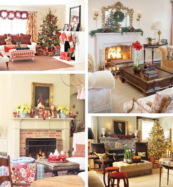 Image of: Christmas Displays Mantel Decorations 4