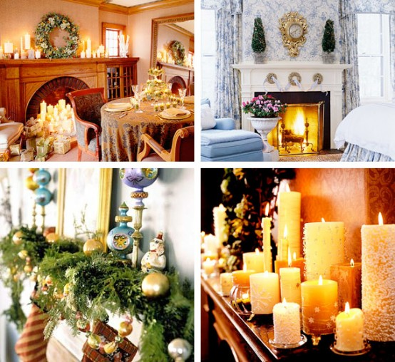 Image of: Christmas Displays Mantel Decorations 5