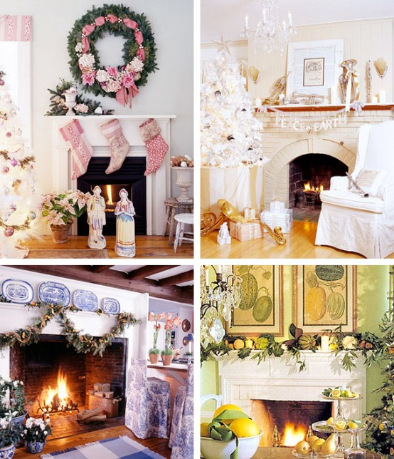 Image of: Christmas Displays Mantel Decorations 6