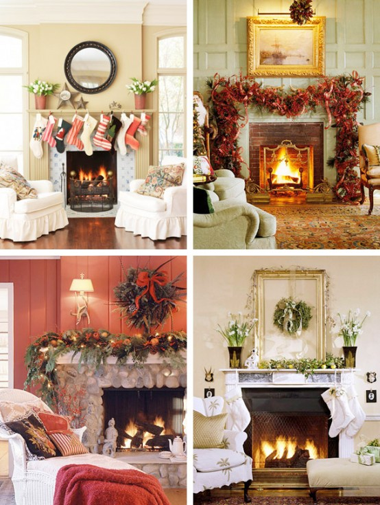 Image of: Christmas Displays Mantel Decorations 7