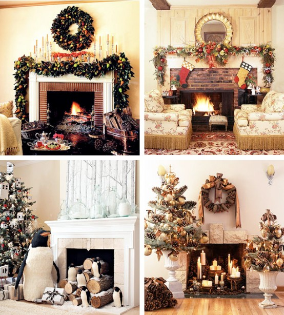 Image of: Christmas Displays Mantel Decorations with 30 Ideas Photos