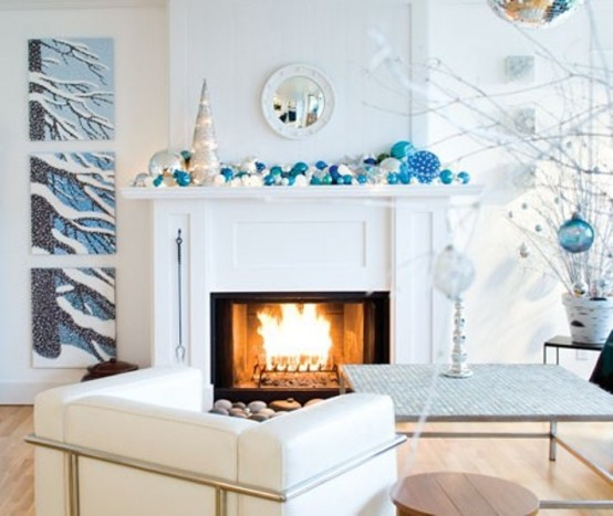 Image of: Decorating a Fireplace for Christmas with 20 Cute Ideas 10