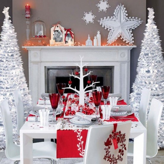 Image of: Decorating a Fireplace for Christmas with 20 Cute Ideas 13