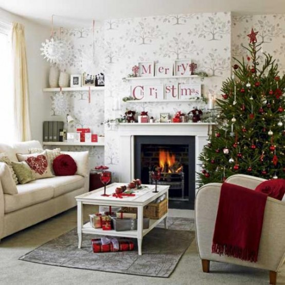 Image of: Decorating a Fireplace for Christmas with 20 Cute Ideas 15