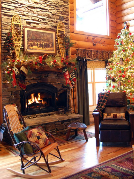 Image of: Decorating a Fireplace for Christmas with 20 Cute Ideas 2