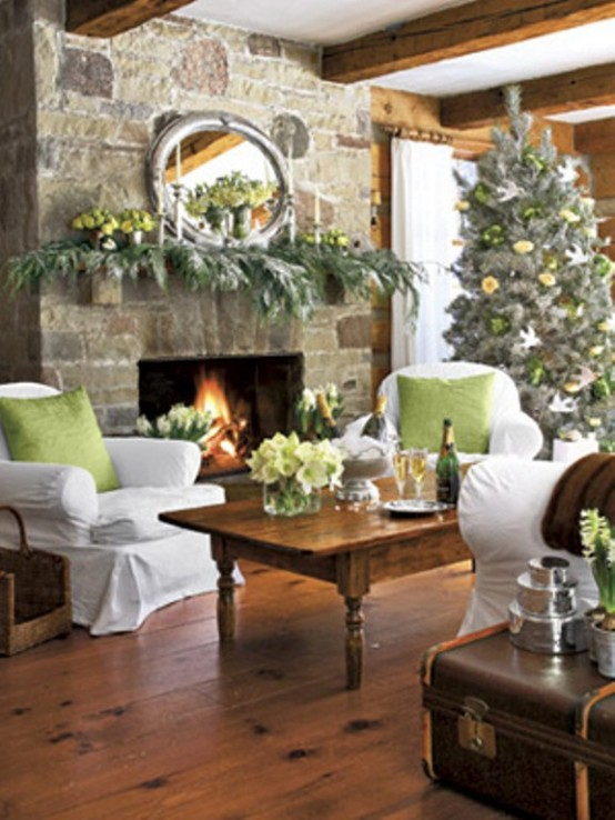 Image of: Decorating a Fireplace for Christmas with 20 Cute Ideas 4