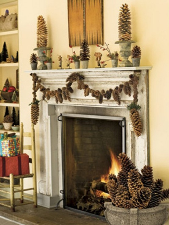 Image of: Decorating a Fireplace for Christmas with 20 Cute Ideas 7