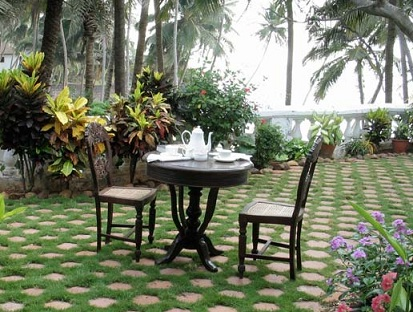 Image of: A Terrace Garden