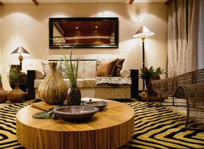 African Style Furniture Decorate a Living Room