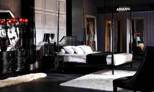 Armani Gothic Victorian Dark Bedroom Furnishing