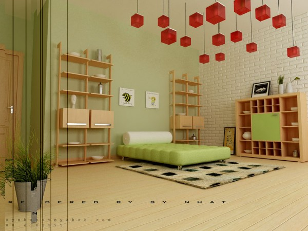 Image of: Artistic Young Bedroom Furniture