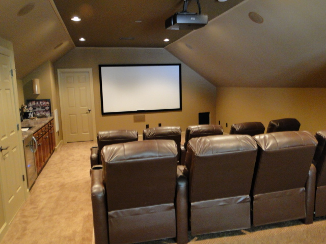 Image of: Attic Home Theater Design