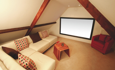 Image of: Attic Home Theater