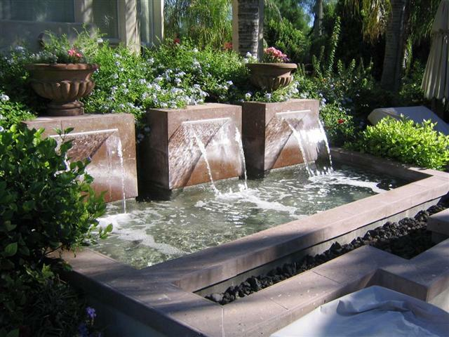 Backyard Water Feature with Fountain