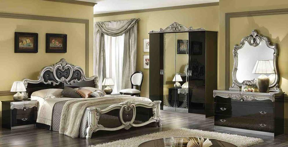 Image of: Barocco Black and Silver  Bedroom