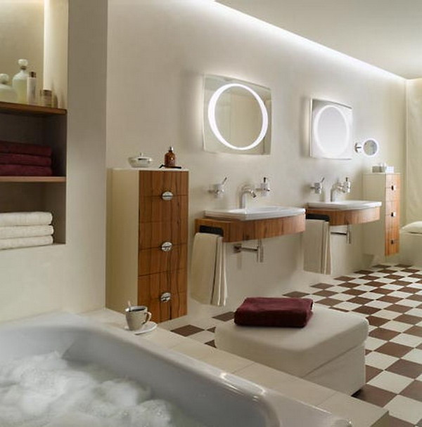 Image of: Bathroom Lighting Interior Design Ideas
